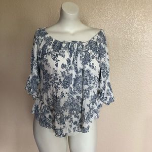 Denim & Supply Ralph Lauren Ruffle Peasant Top S
